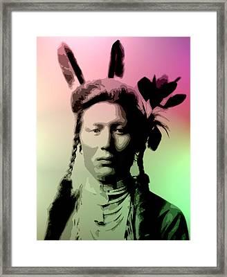 Yellow Dog - Crow Framed Print by Lisa Berton
