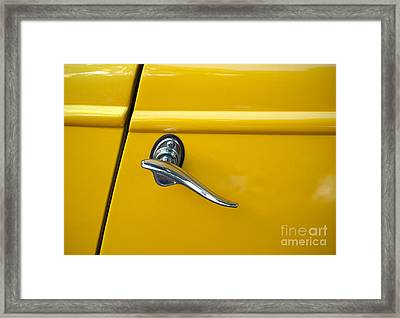 Yellow Framed Print by Gwyn Newcombe