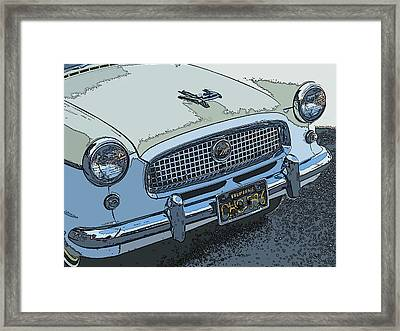 Yellow Nash Metropolitan Series IIi Nose Study Framed Print by Samuel Sheats