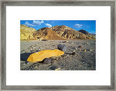 Yellow Rock At Death Valley Framed Print by Laurence Matson