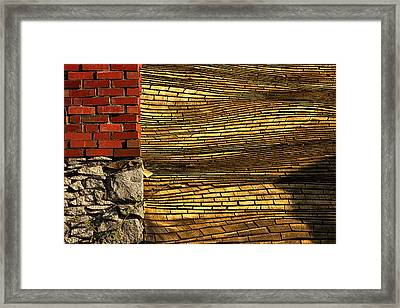 Yellow Roof Framed Print by Matt  Trimble