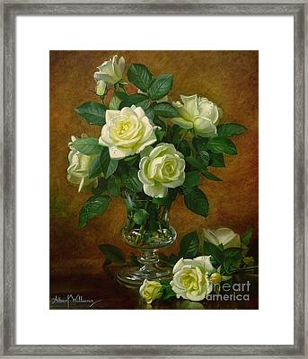 Yellow Roses Framed Print by Albert Williams