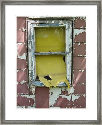 Yellow Shade Framed Print by Todd Sherlock