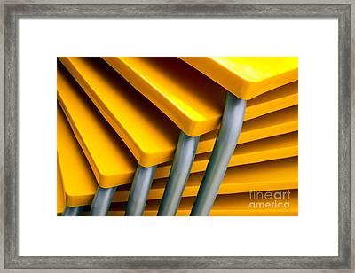 Yellow Tables Framed Print by Carlos Caetano