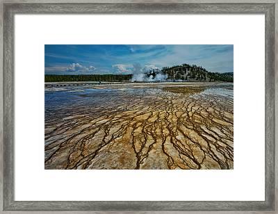 Yellowstone Blood Vessels Framed Print by Dan Mihai