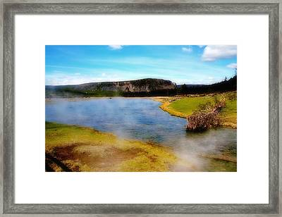 Yellowstone Landscape Framed Print by Ellen Heaverlo