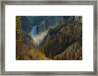 Yellowstone Lower Falls Framed Print by Johan Elzenga