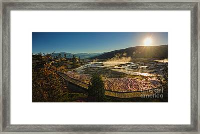 Yellowstone National Park - Minerva Terrace - 05 Framed Print by Gregory Dyer