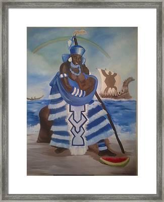 Yemaya - Mother Of The Ocean Framed Print by Sula janet Evans