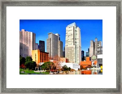 Yerba Buena Garden In San Francisco California . 7d4262 Framed Print by Wingsdomain Art and Photography