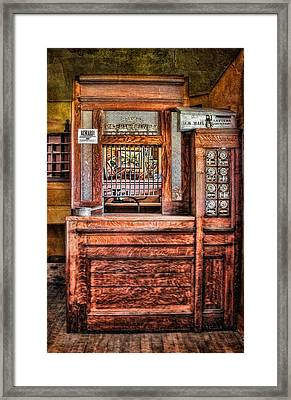 Yesterday's Post Office Framed Print by Susan Candelario