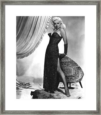 Yield To The Night, Aka Blonde Sinner Framed Print by Everett