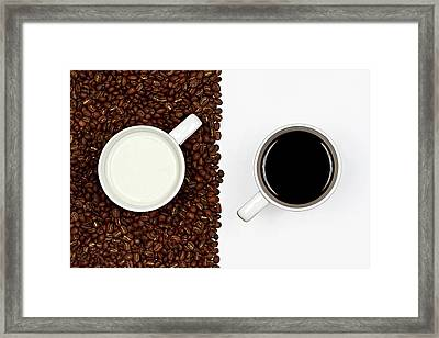 Yin And Yang Coffee And Milk Framed Print by Gert Lavsen Photography