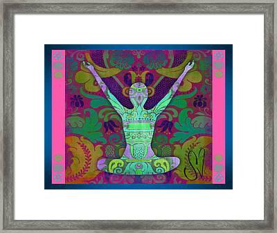 Yoga Card Framed Print by Dana Vogel