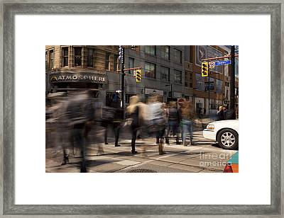 Yonge And Queen Street Intersection Framed Print by Igor Kislev