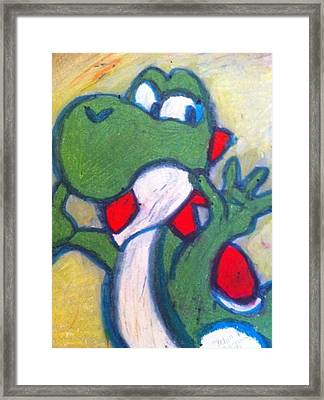 Yoshi Framed Print by Courtney Gainey