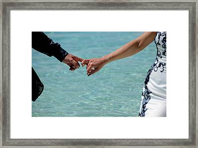 You And Me. Togetherness Framed Print by Jenny Rainbow