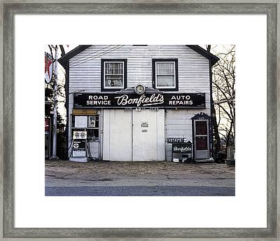 You Can Trust Your Car To The Man Who Wears A Star Framed Print by Jan W Faul
