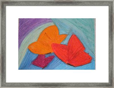 You Give Me Butterflies Framed Print by Genoa Chanel