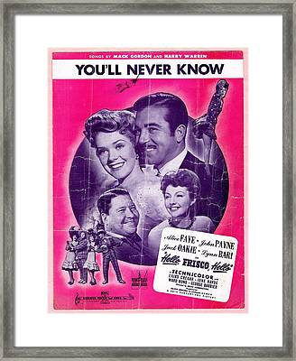 You'll Never Know Framed Print by Mel Thompson