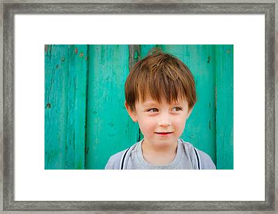 Young Child Framed Print by Tom Gowanlock