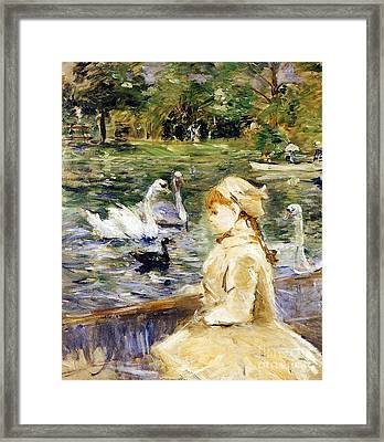 Young Girl Boating Framed Print by Berthe Morisot