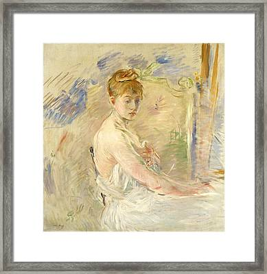 Young Girl Getting Up Framed Print by Berthe Morisot