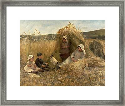 Young Harvesters Framed Print by Lionel Percy Smythe