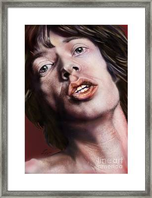 Young Jagger-like A Rolling Stone Framed Print by Reggie Duffie