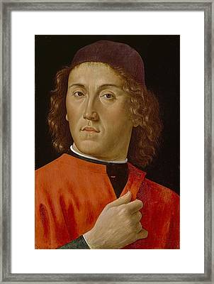 Young Man  Framed Print by Domenico Ghirlandaio