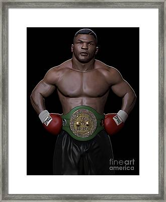 Young Mike Tyson Framed Print by Douglas Petty