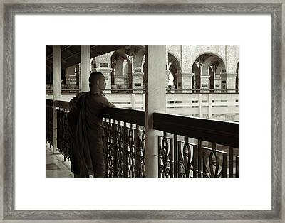 Young Monks In Mandalay Hill Framed Print by RicardMN Photography