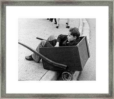 Young Porter Framed Print by Three Lions