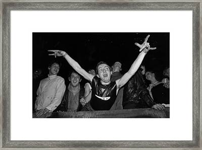 Young Punk Framed Print by Chris Moorhouse