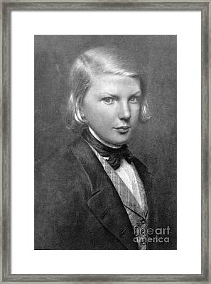 Young Victor Hugo, French Author Framed Print by Photo Researchers