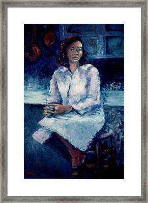 Young Woman Framed Print by Bettye  Harwell
