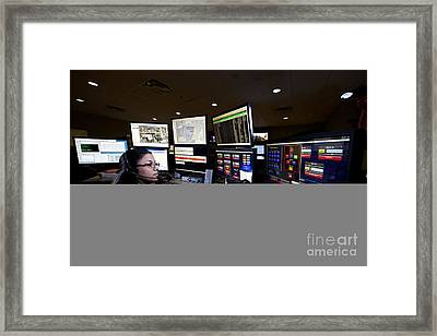 Young Woman Working In The Emergency Framed Print by Terry Moore