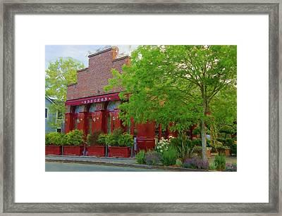 Yountville Scene Framed Print by Jenny Hudson