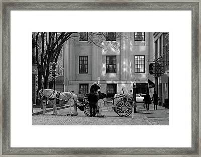 Your Carriage Awaits Framed Print by Kristine Patti
