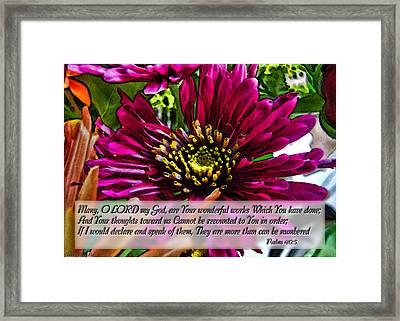 Your Wonderful Works Framed Print by Debbie Portwood