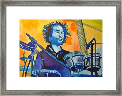 Yum Um Drum Framed Print by Patricia Arroyo