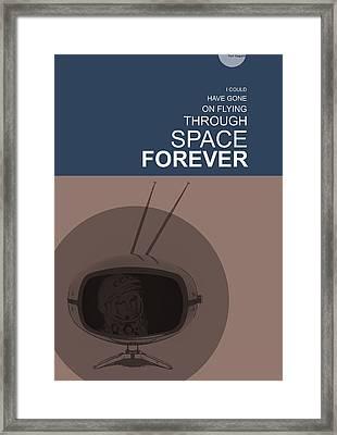 Yuri Gagarin Poster Framed Print by Naxart Studio