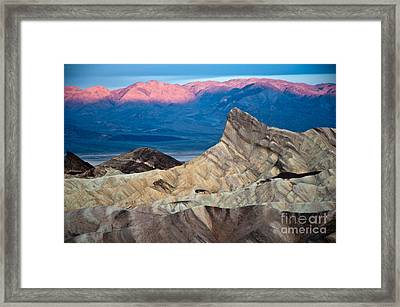 Zabriskie Point Dawn Framed Print by Jim Chamberlain