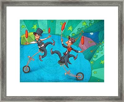 Zanzzini Brothers Framed Print by Autogiro Illustration