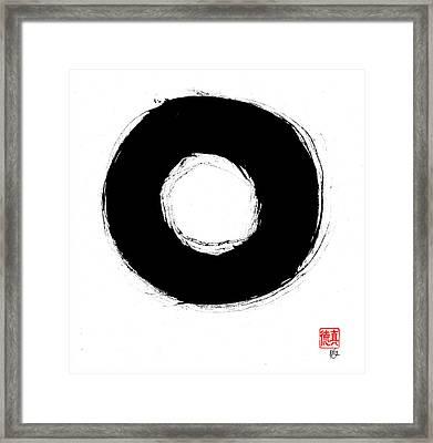 Zen Circle Seven Framed Print by Peter Cutler