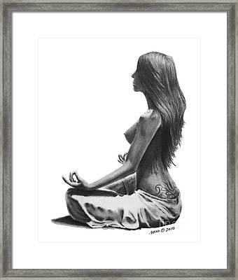 Zen Framed Print by Marianne NANA Betts