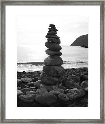 Zen Tower Framed Print by Ramona Johnston
