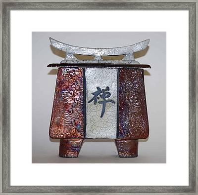 Zen Vessel - Med Framed Print by Victoria Page