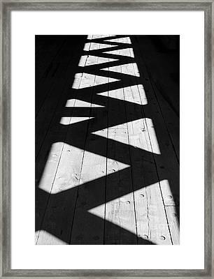 Zigzag  Framed Print by Luke Moore