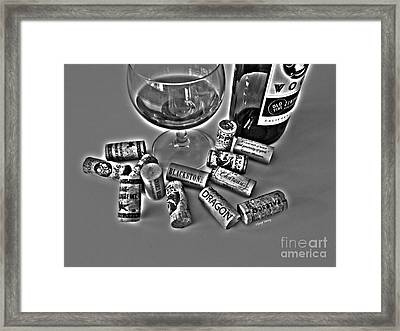 Zin Black And White Framed Print by Cheryl Young